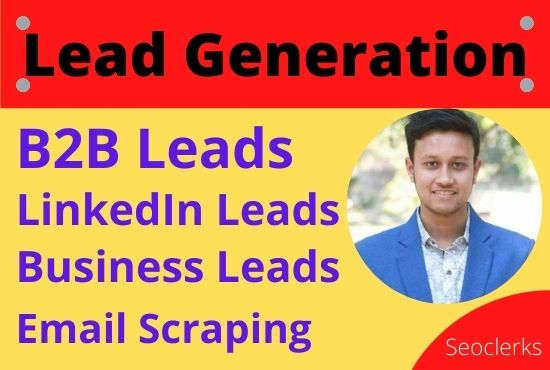 I will collect 50 b2b leads for your business