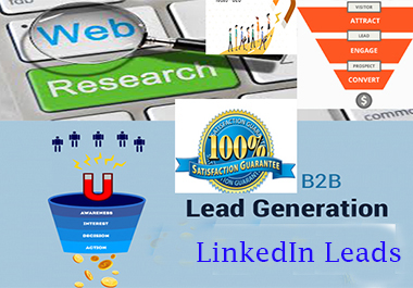 perfect b2b lead generation web research data entry on targeted niche
