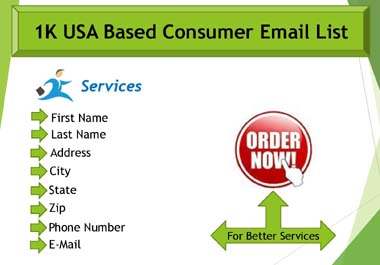 I Offer You 1K USA Based Fresh Customer Email List For Business Promotion