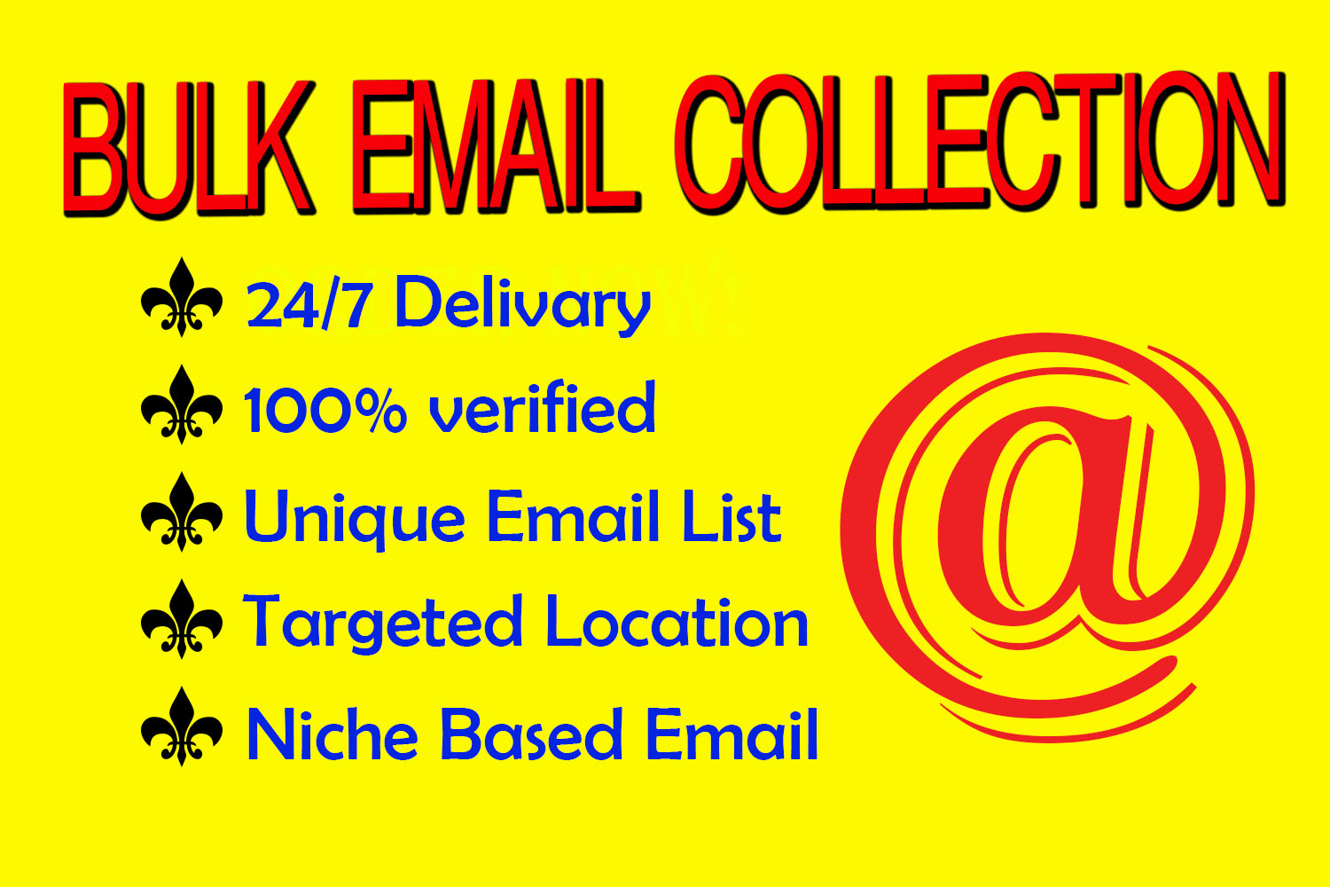 I will collect niche-targeted email list and provide Bulk Email collection
