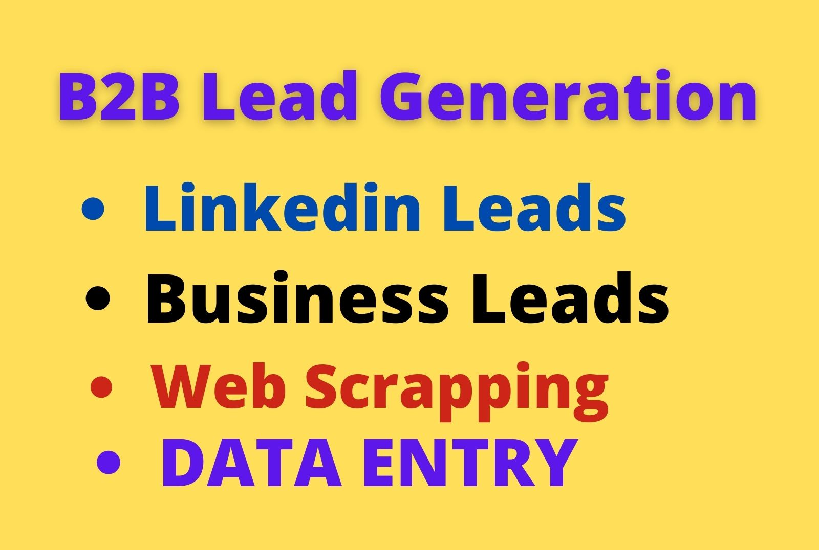 do b2b LinkedIn lead generation and business email list