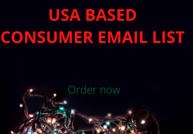 I will supply 1000 clean and valid USA based customer email list for email campaign
