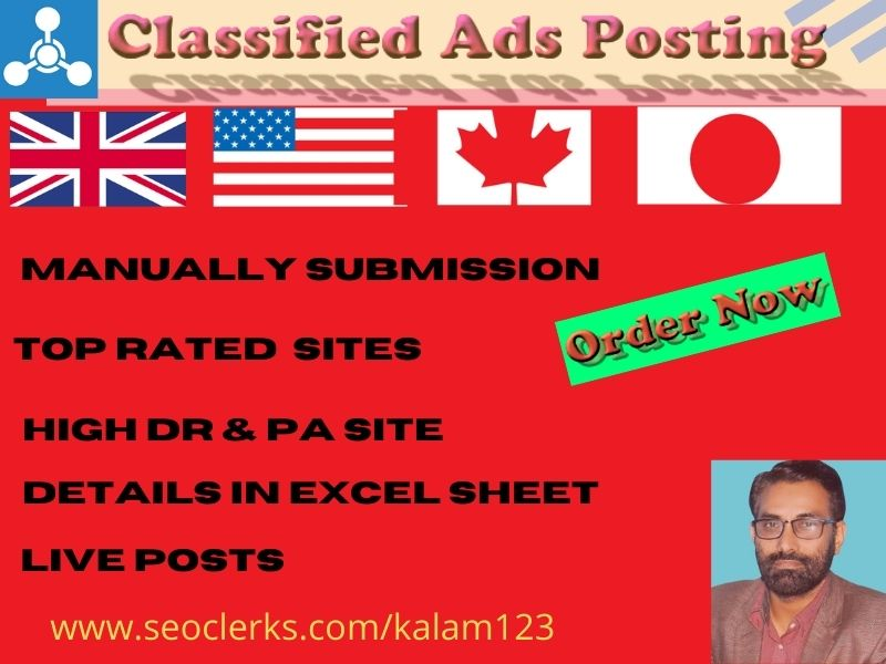I will do 50+ classified ads posting