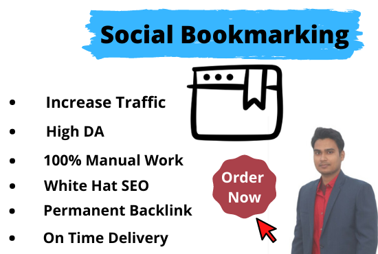 I will do High DA PA Social Bookmarking SEO Backlinks