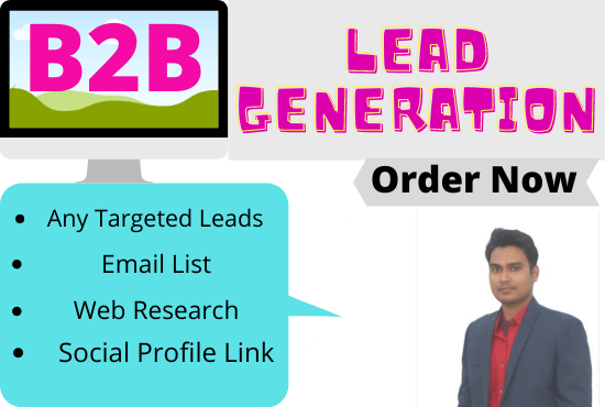I will do targeted b2b lead generation,  data entry,  and web research