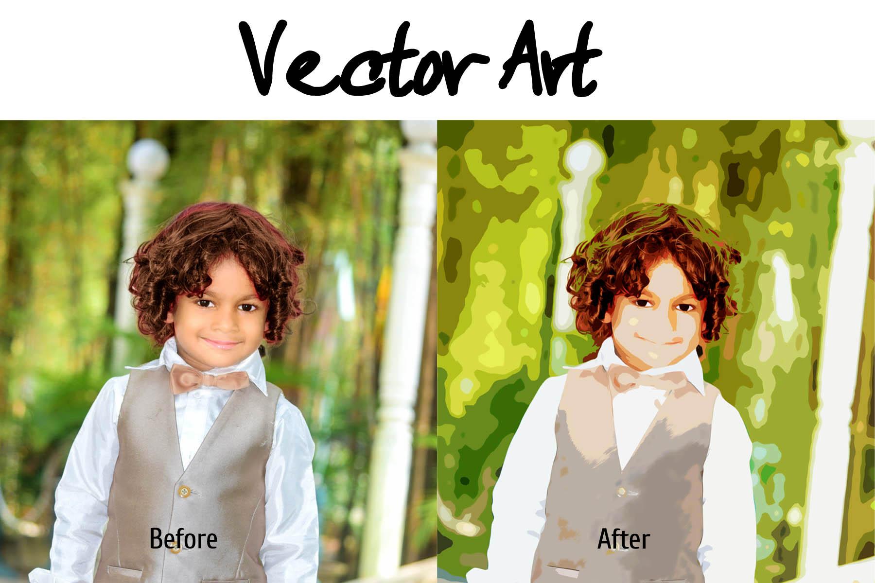 I will do vector art your photo