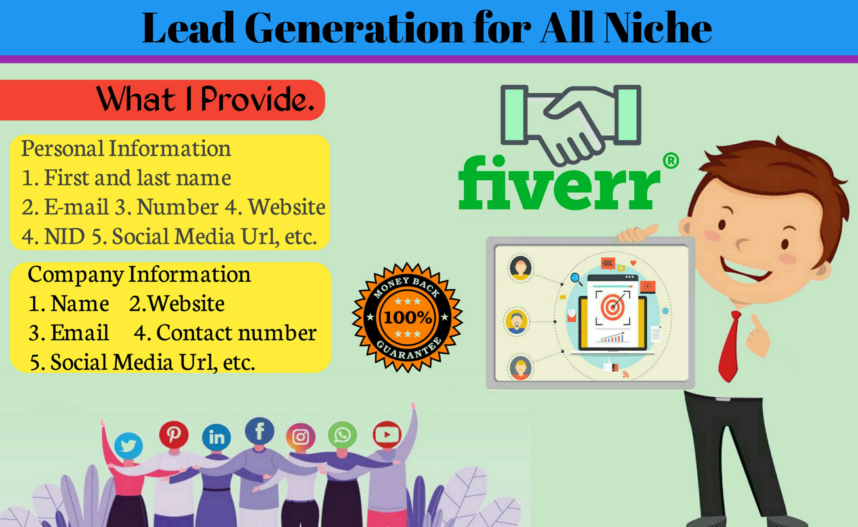 I will do lead generation for all niche,b2b lead generation,linkedin lead generation