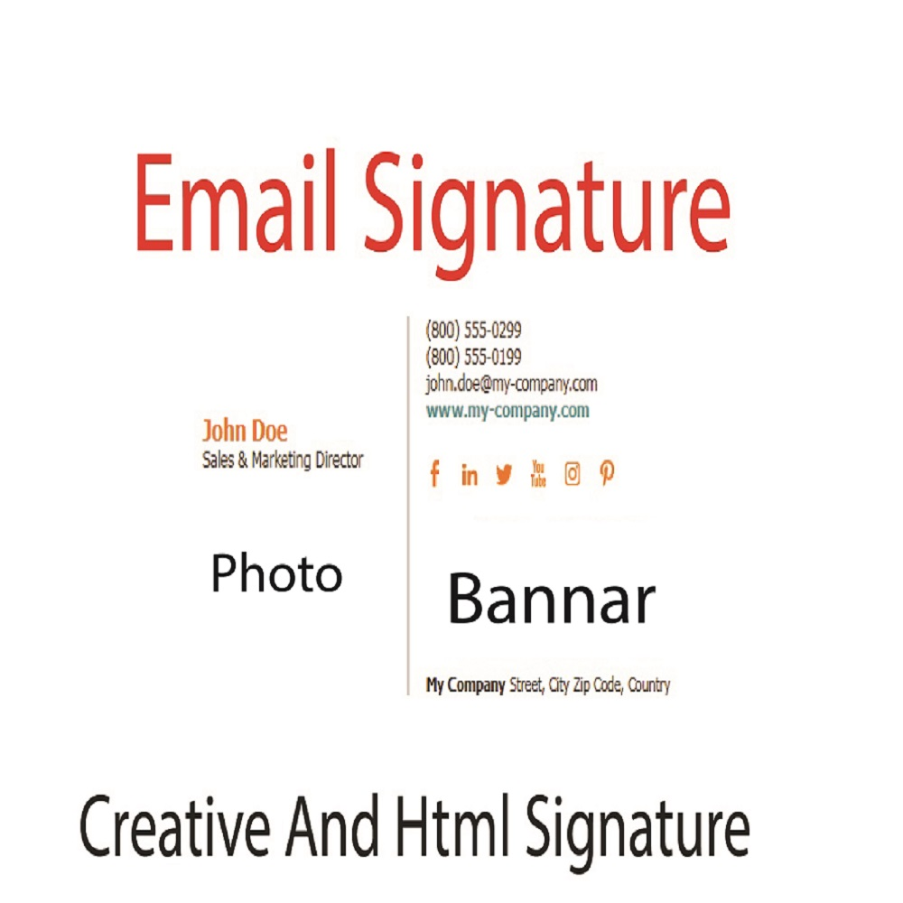 I will design professional and code clickable email signature or html email signature