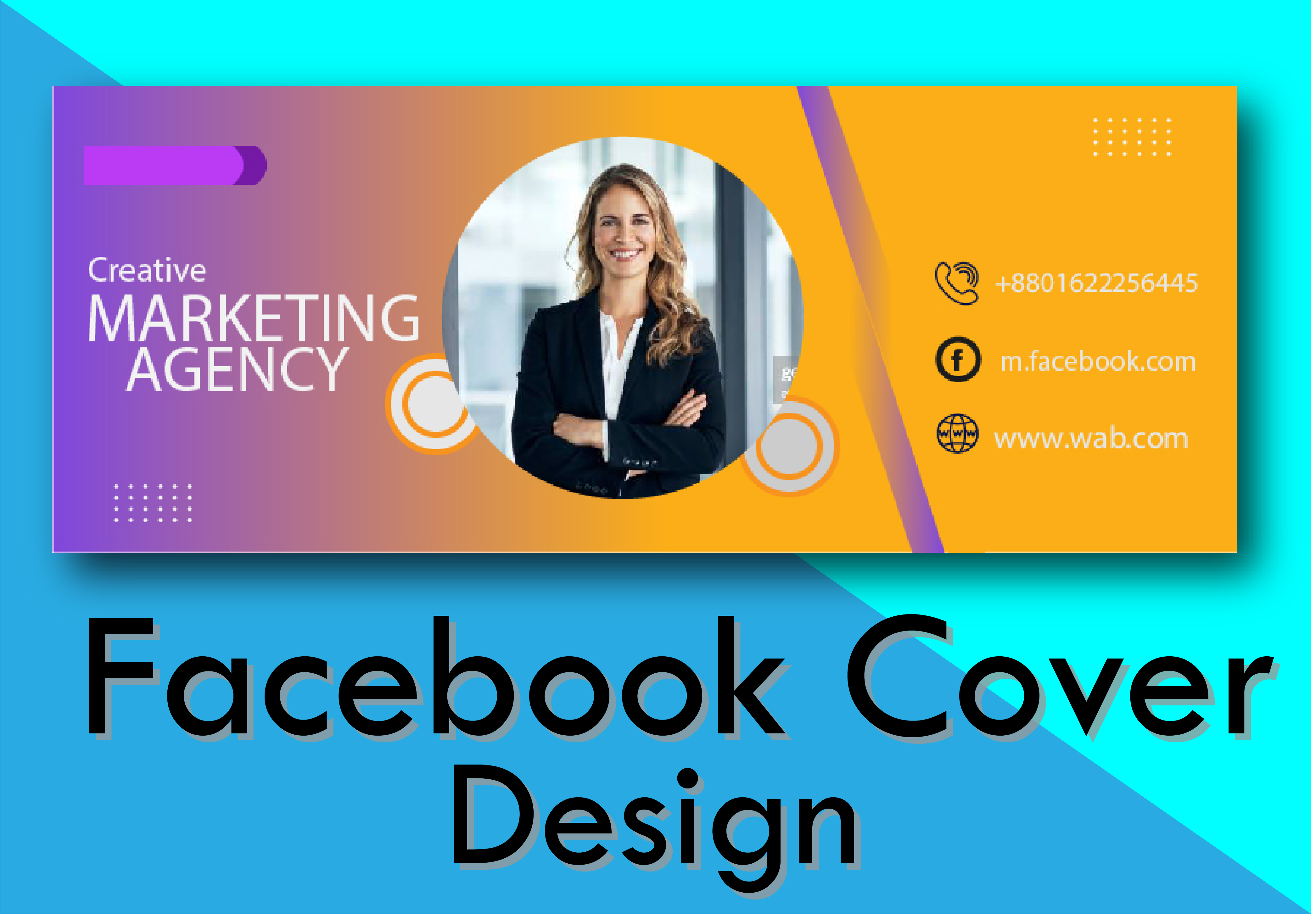 I will design professional social media cover for you