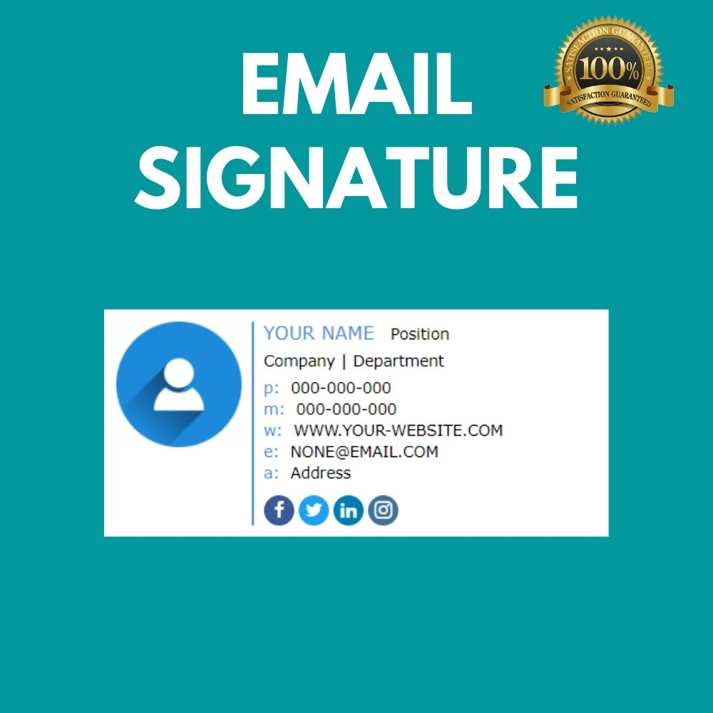 I will create a Clickable HTML Email Signature with the latest concepts