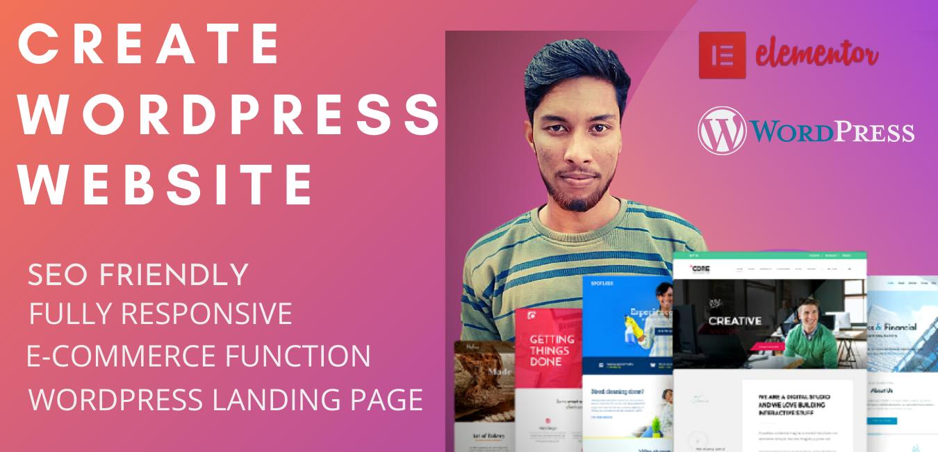 I will create professional & responsive wordpress website