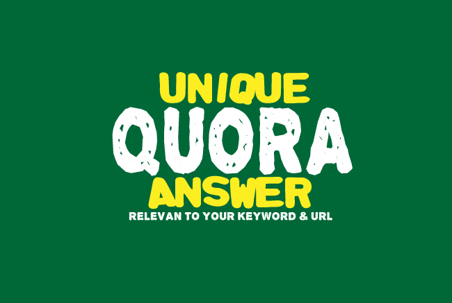 I will Provide 20 High Quality Quora Answers with your keyword & URL