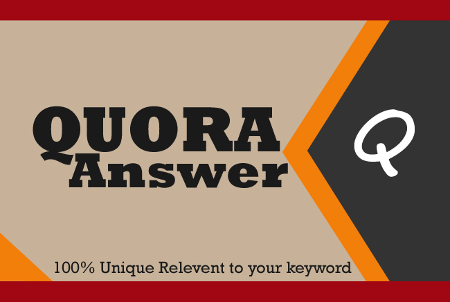I will promote your website 10 High Quality Quora Answers with your keyword & url