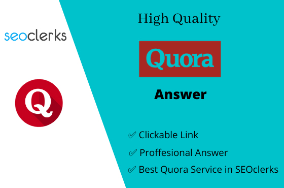 I Will Do Promote Your Website 5 High Quality Quora Answer with your Keyword & Url
