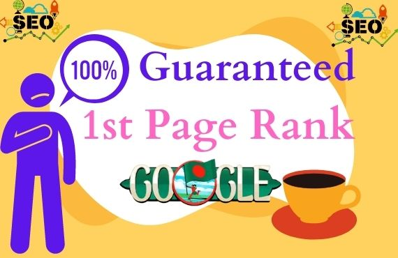 Guaranteed I will do rank your website on Google 1st page