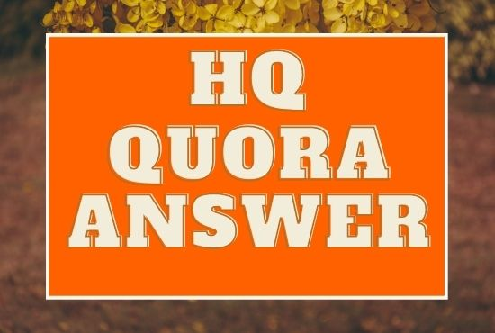 I Will Promote your website 20 HQ Quora Answer with your keyword & URL