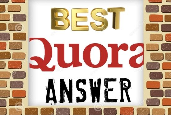 Promote your website 3 High quality Quora Answer with your targeted traffic