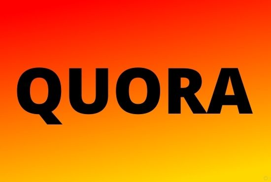 I will offer you 3 high quality Quora Answer with your keywords & URL
