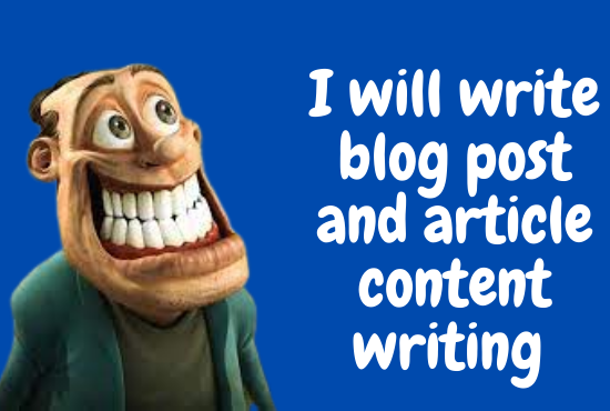 I will do 10 article and blog post content writing
