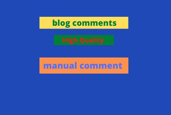 I will manually provide 50 DA block comment backlink SEO and service