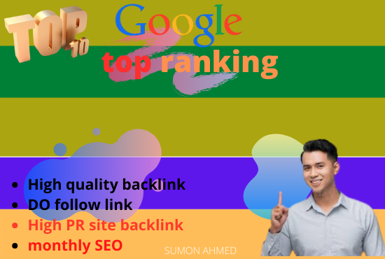 i will do your website top ranking 100 backlink create seo