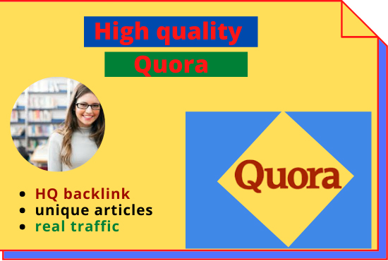 I will do promote your website 10 Quora answers whit hate manual backlinks