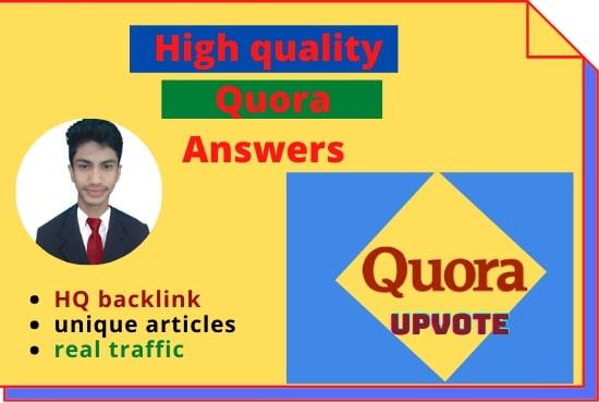 Website ranking 200 best backlink Quora answers