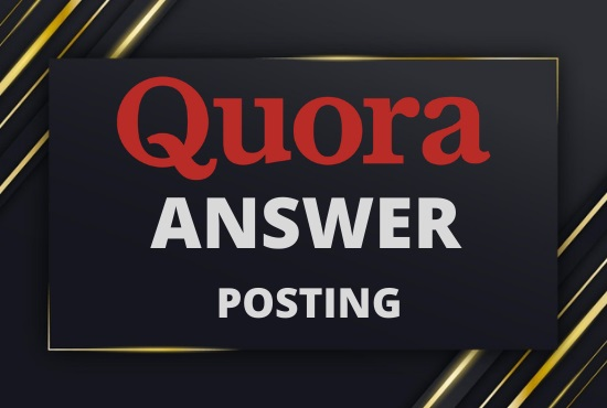 Promote Your website 2 High-Quality Quora Answers with your Keyword & URL