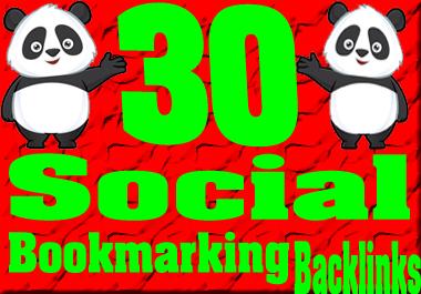 I will make Instant 30 High DA/PA Social bookmarking Backlinks
