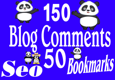 I will do 150 Blog commetns and 50 seo Bookmarks Backlinks Manully