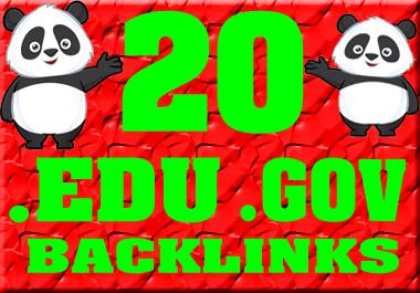 I will do high quality and high powerful. edu. gov backlinks manually
