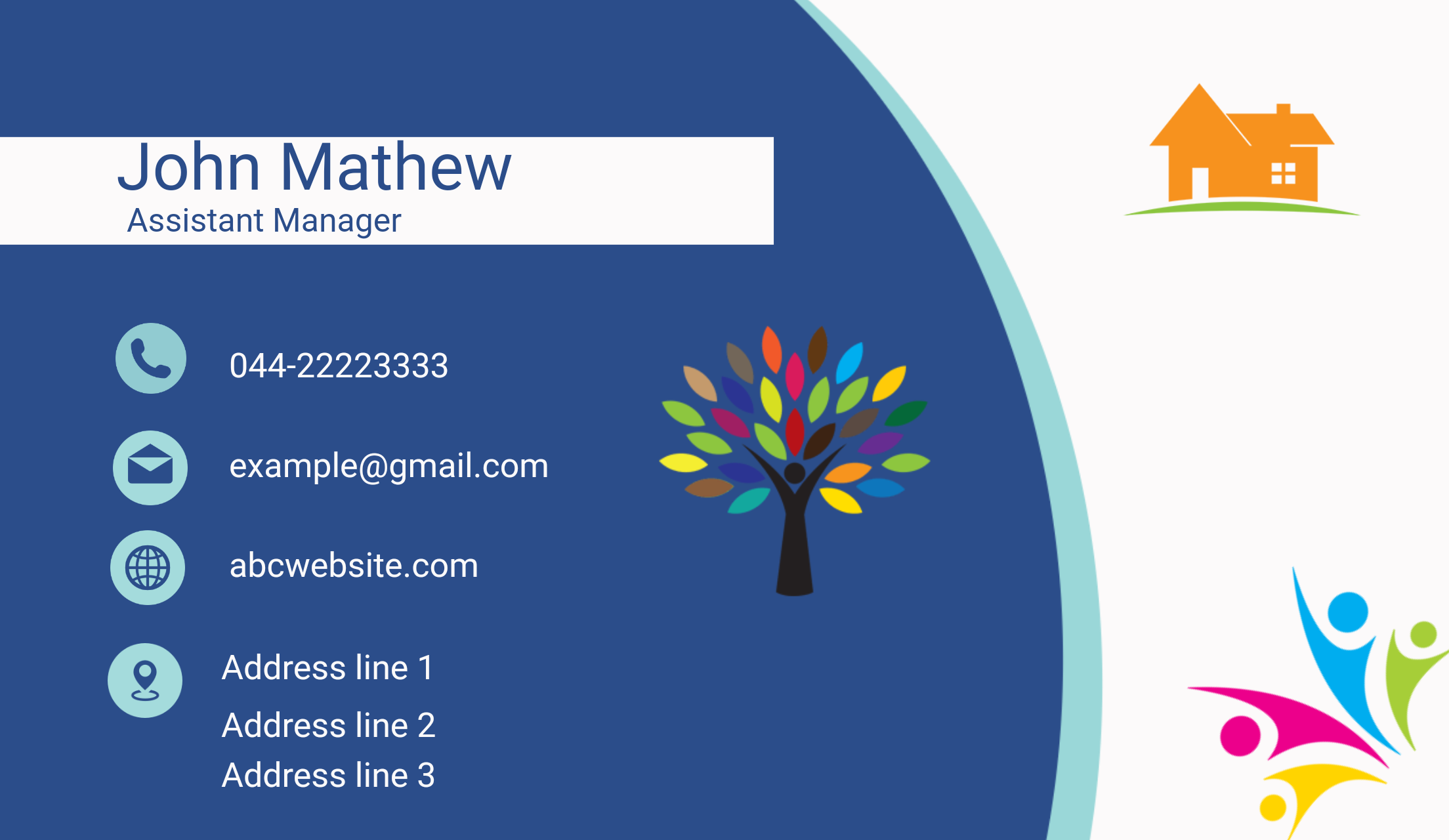 I will get individual design unique Business card& logo ready