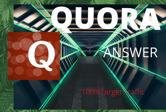 provide Promote your website with 20 HQ Quora answer Backlink