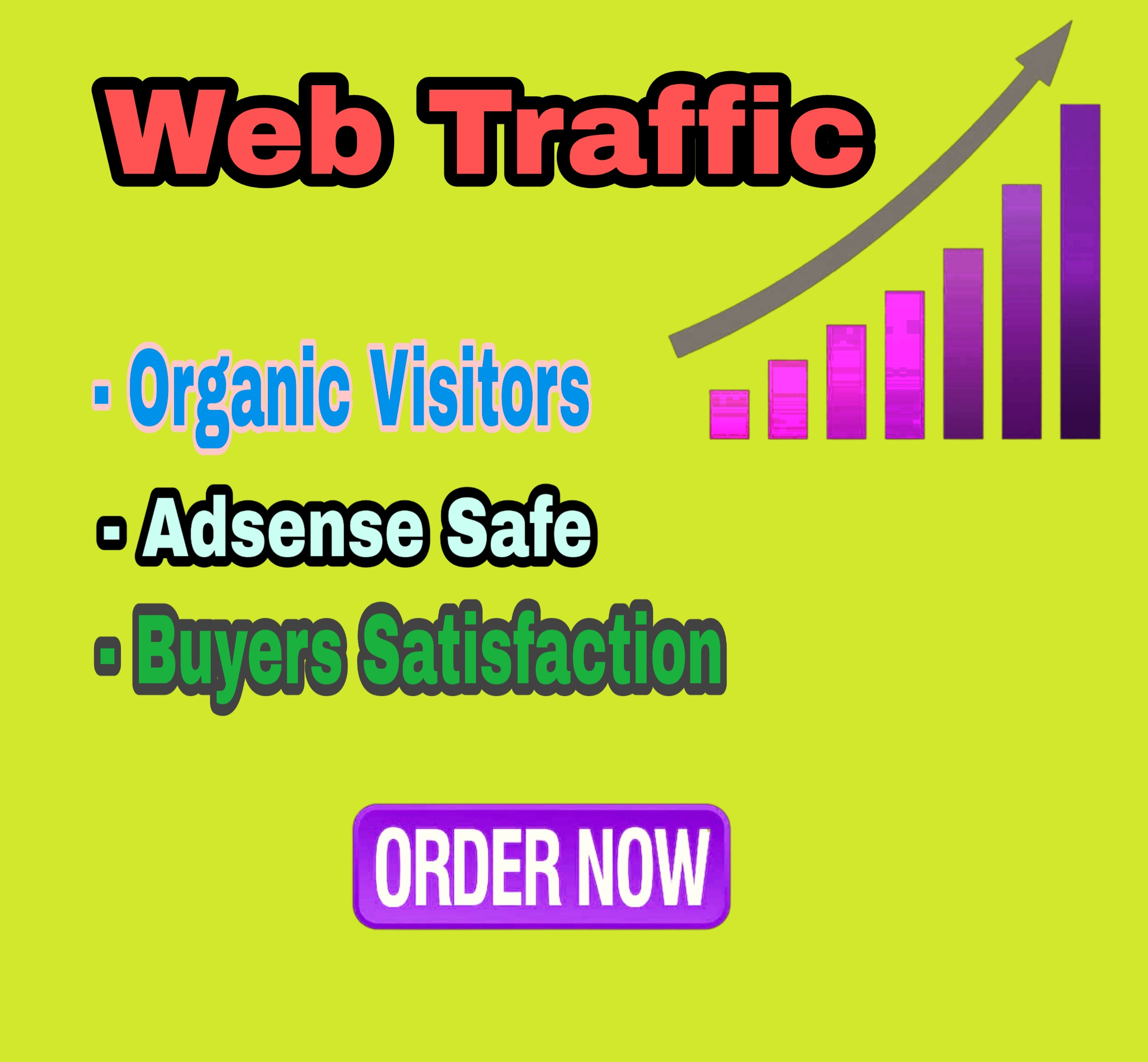 I can drive 1000 organic web traffic with low bounce rate