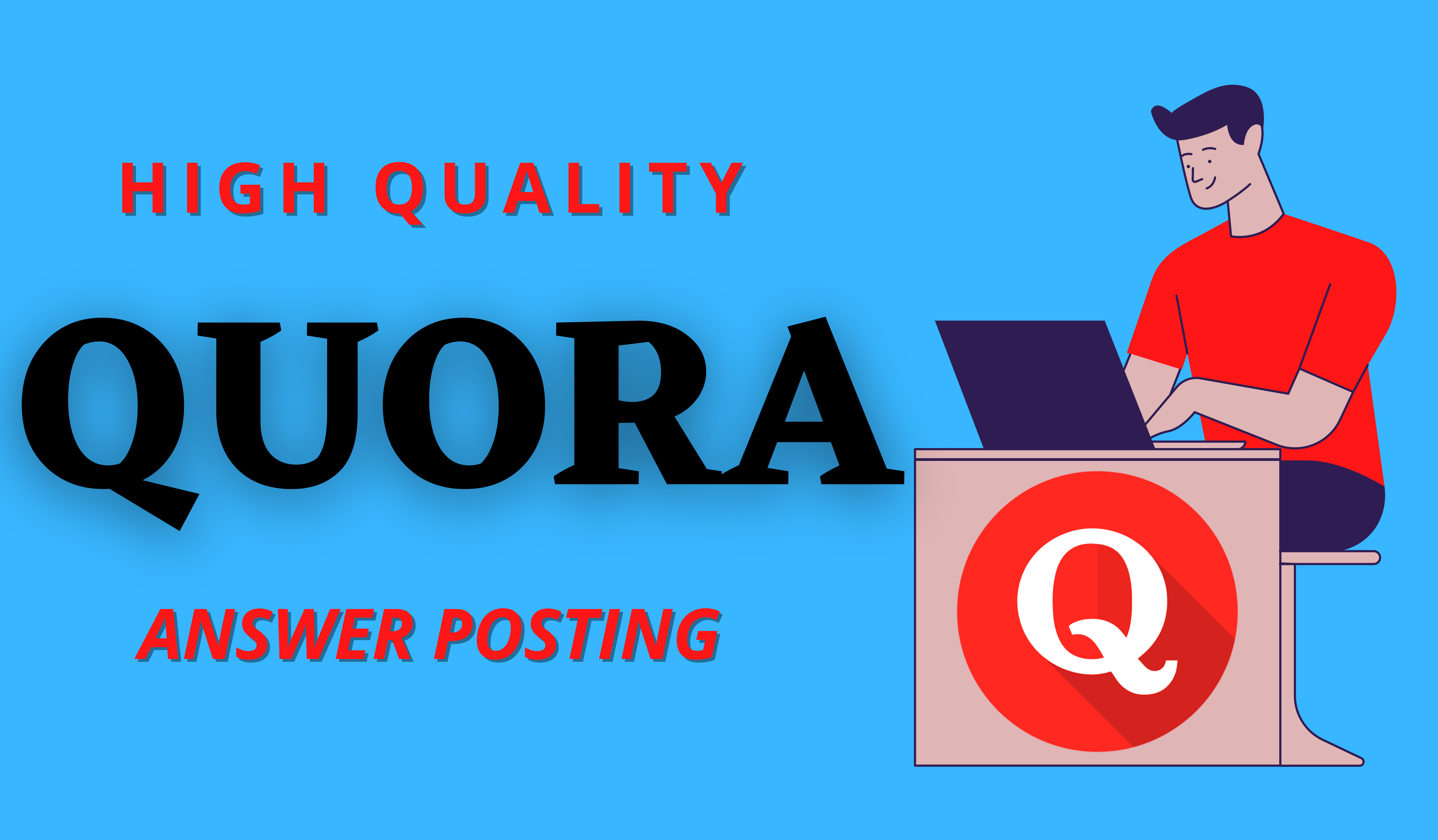 Promote Your Website 5 HQ Quora answer with your targeted traffic
