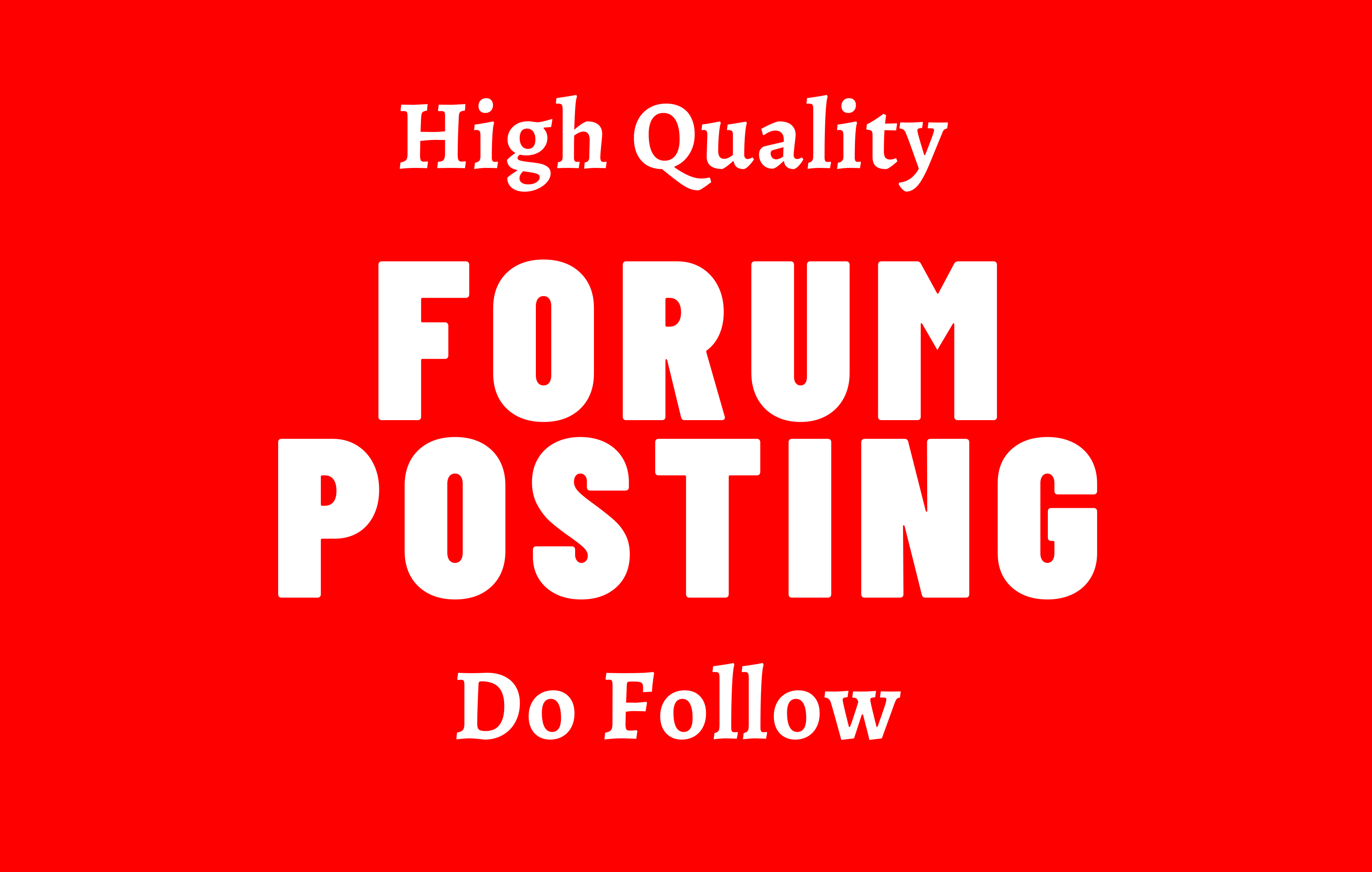 Get More Traffic With 30 Forum Posting on High DA Site