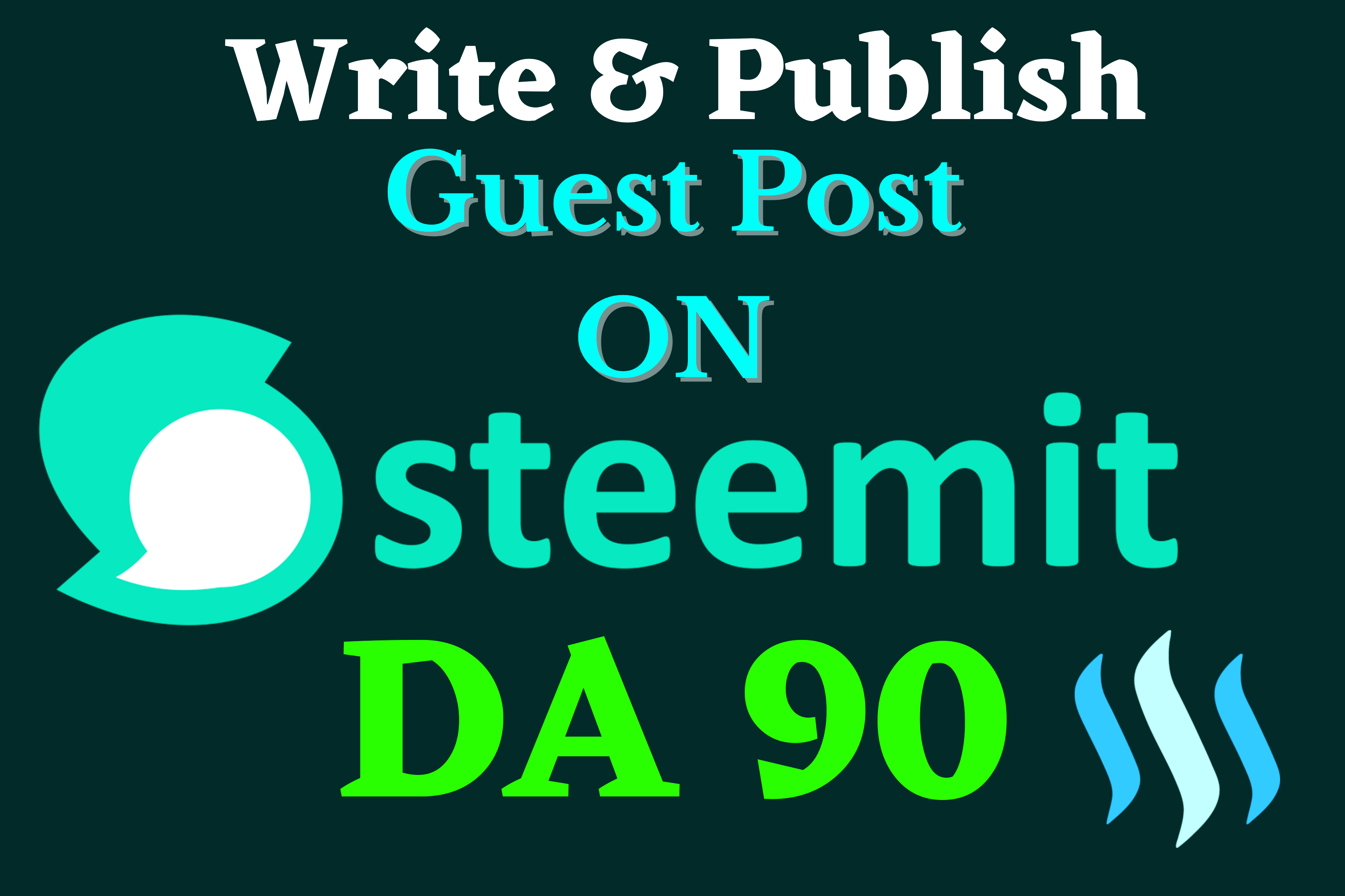 Publish DA 90 Guest Post On Steemit High Matric Backlink