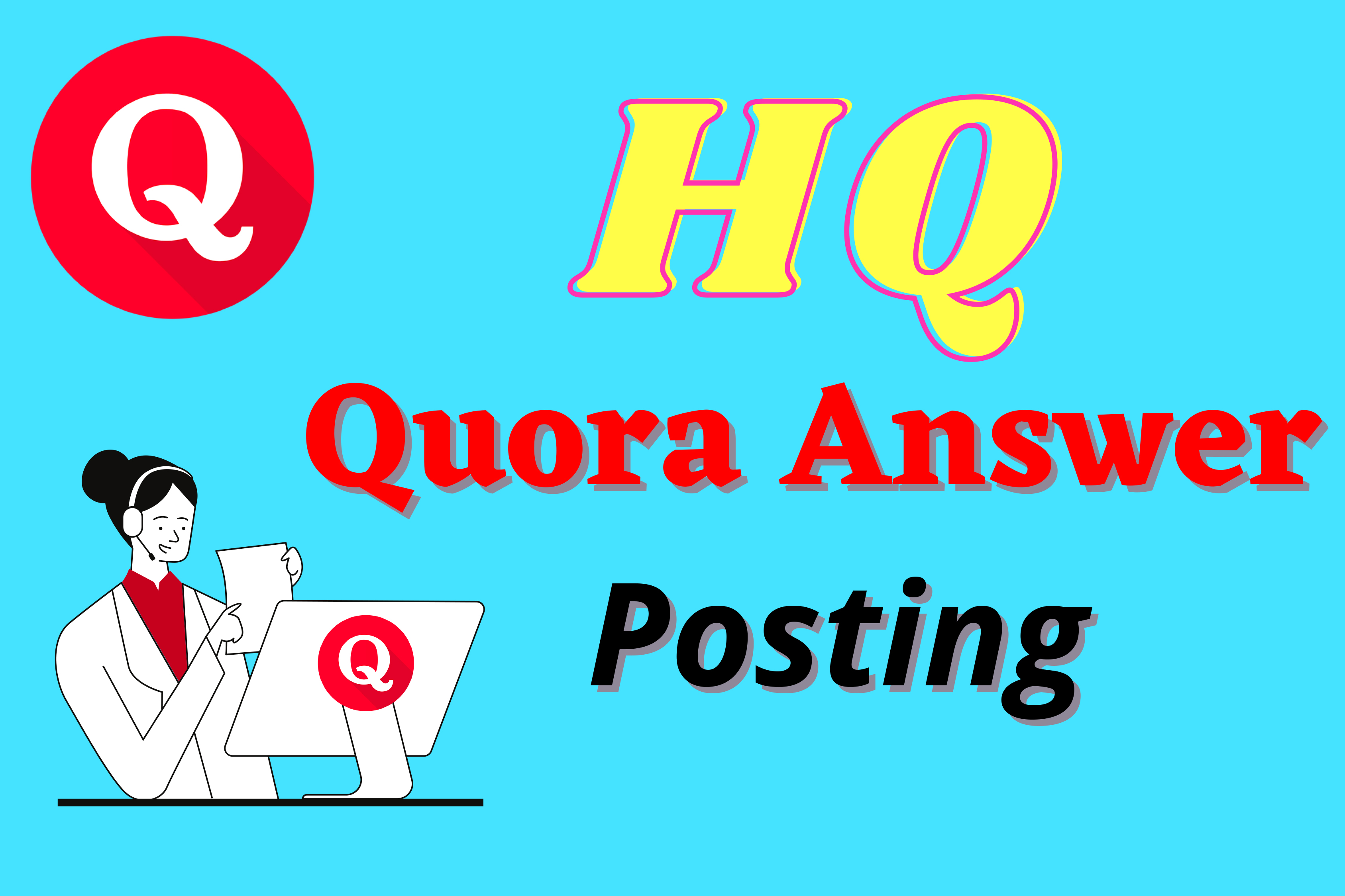 I will promote your website with 13 high quality Quora answer for your Keyword & URL
