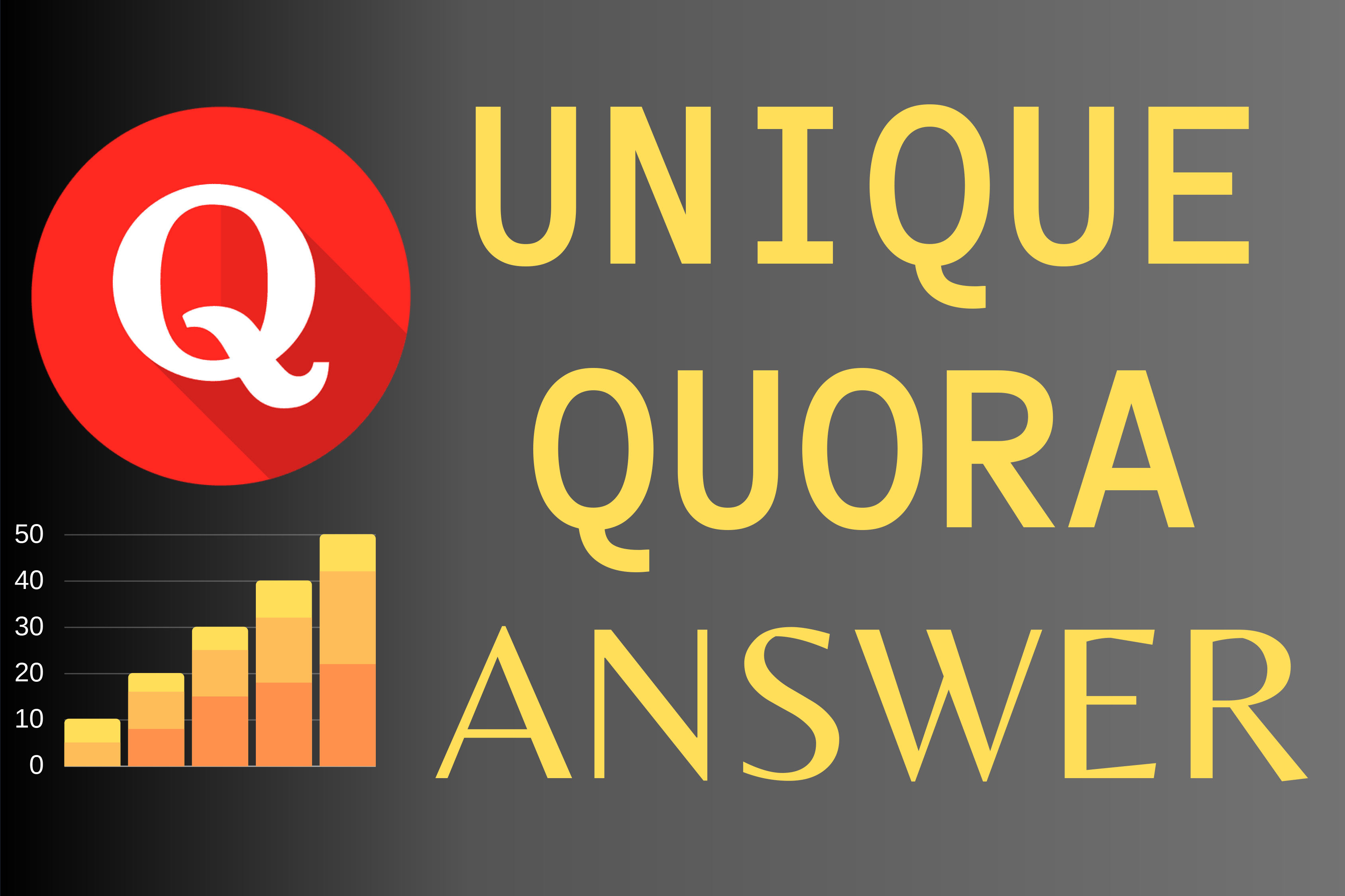 Guaranteed Promote your website 10 high quality Quora answer with your Keyword & URL
