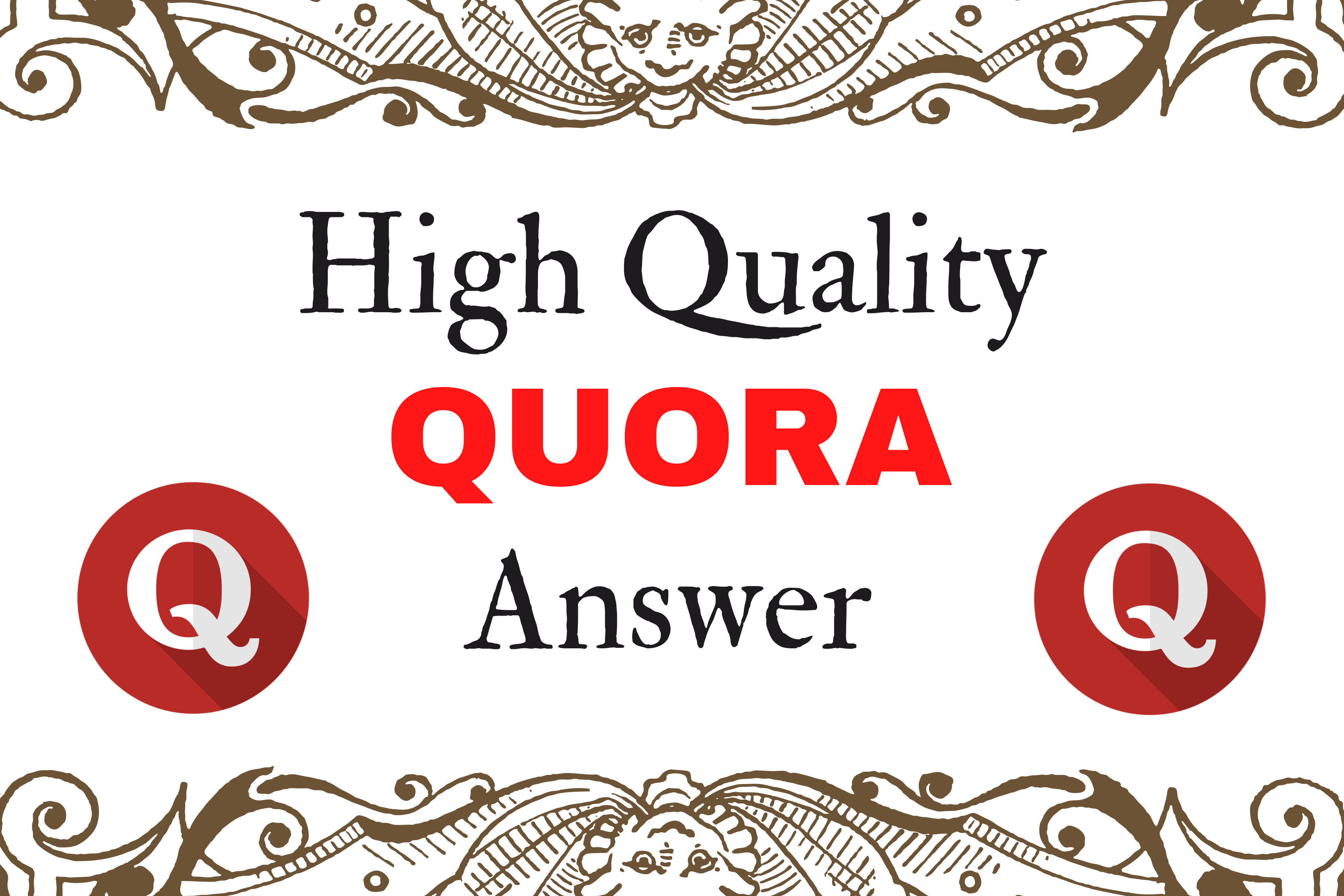 Promote your website with 15 High Quality Quora Answer For Your Targeted Traffic