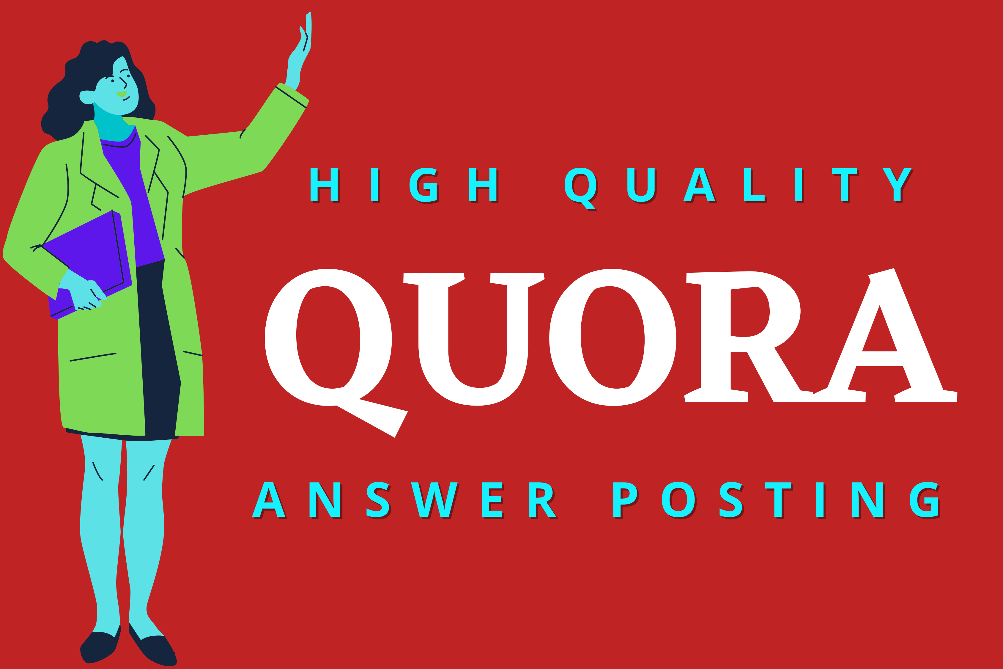 Promote your website with 5 HQ Quora Answer with your Keyword & URL