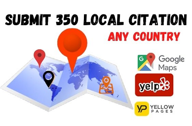 I will DO 50 Local Citation for USA, UK, CANADA.