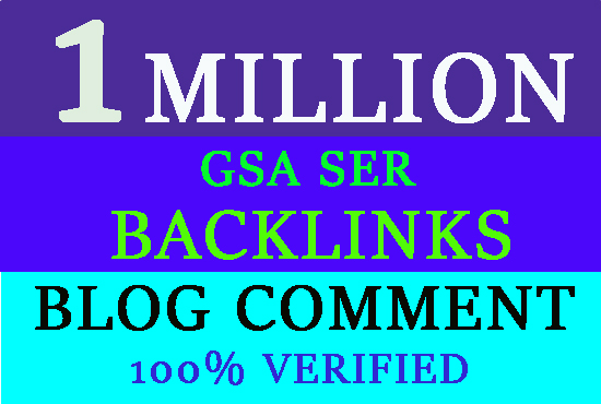 1 Million GSA Dofollow Blog Comments Powerful Backlinks for Ranking in Google