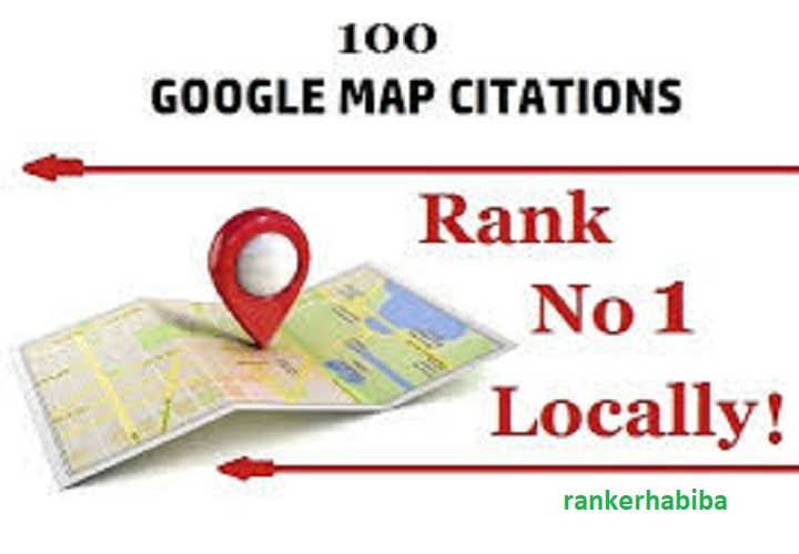 I will do 100 google point map citation for local seo