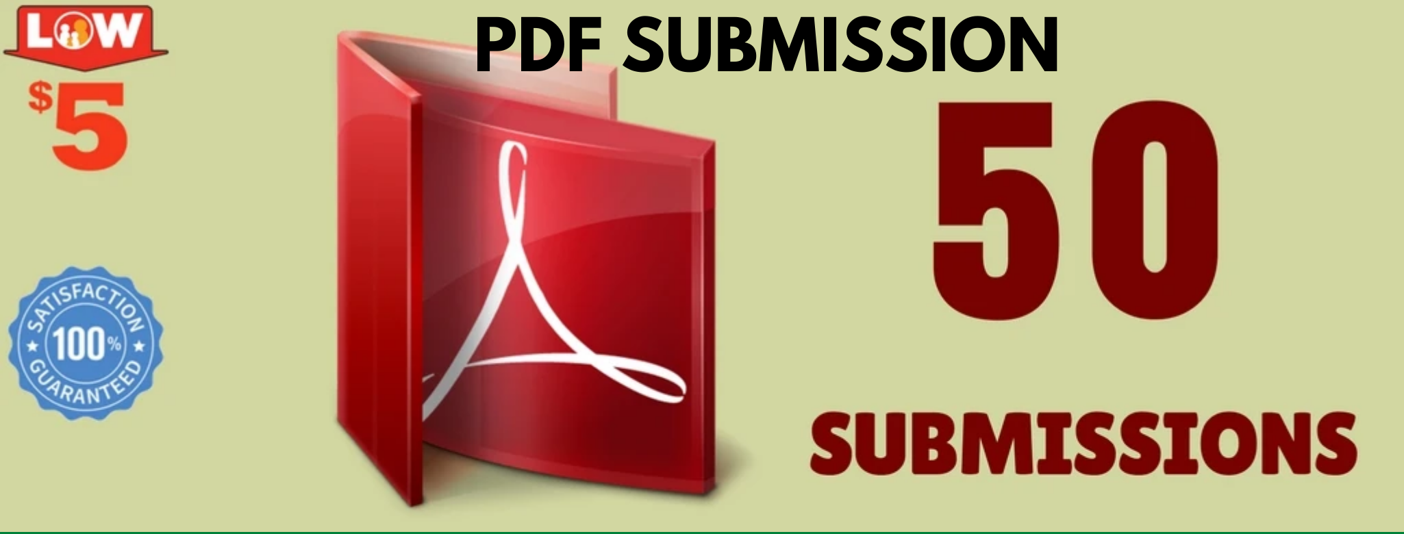 I will do PDF submission on 50 sites