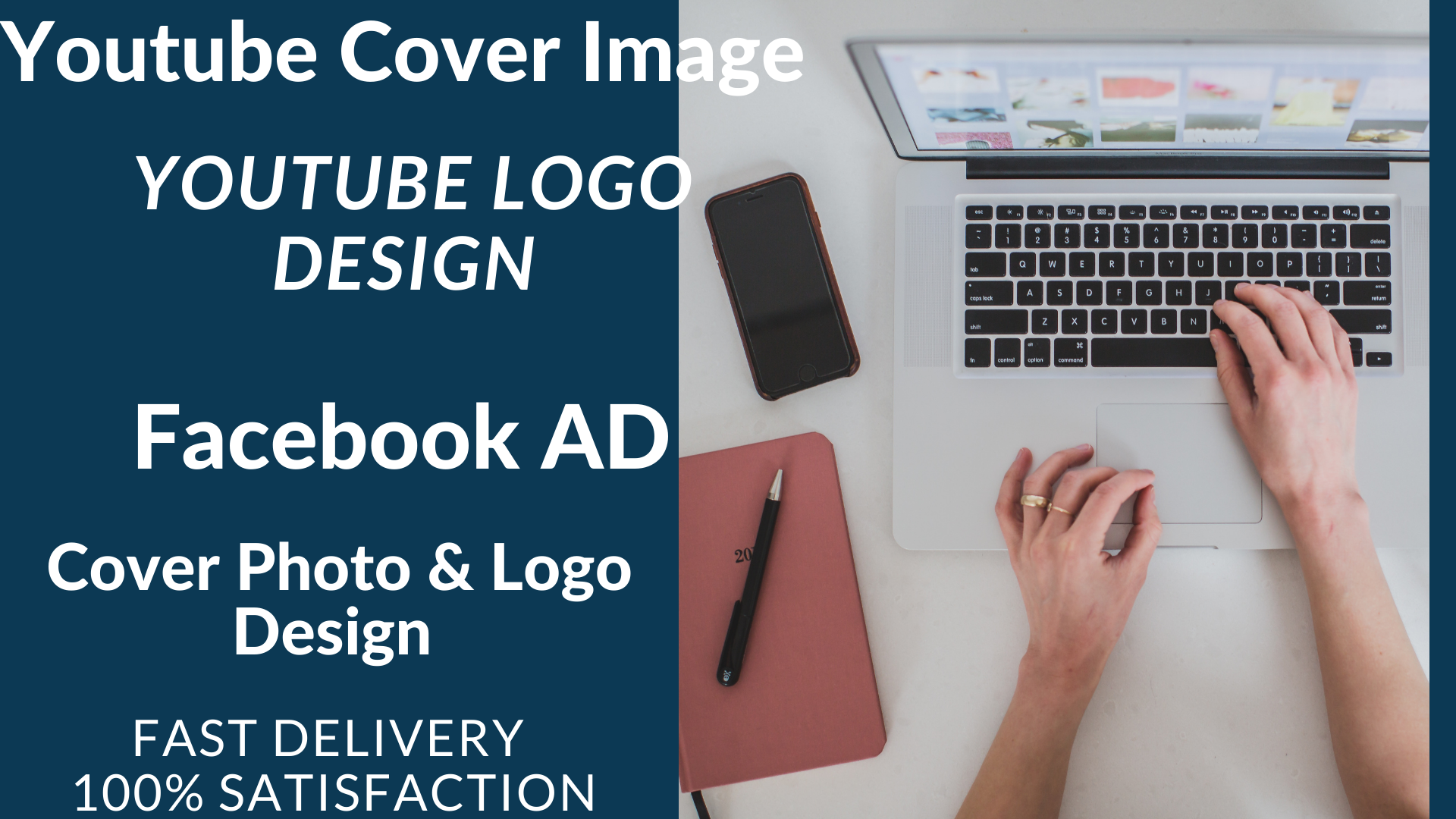 I will Create Professional Logo,  Cover photo,  YouTube,  Social media post and ads
