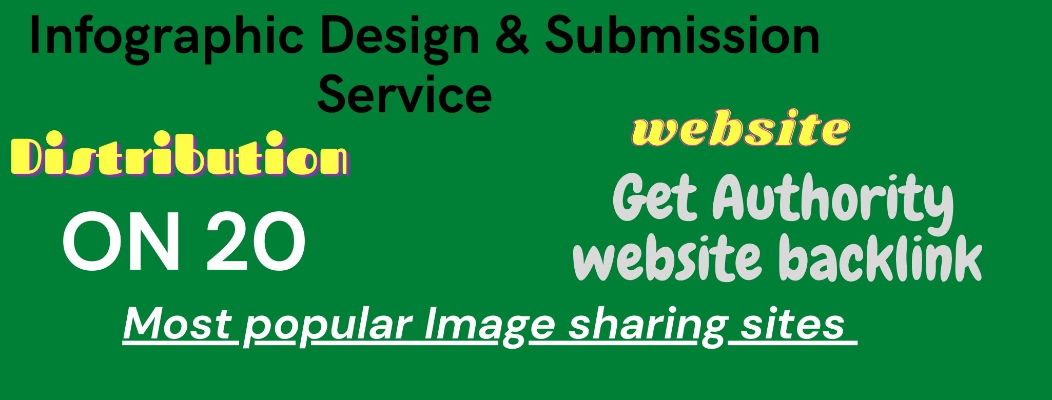 I Will Provide infographic Design and manually submit on High DA/PA image submission sites