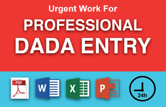 I Will Create Data Entry ,Excel Data Entry ,Copy Paste and Typing Work within in 5 Hours