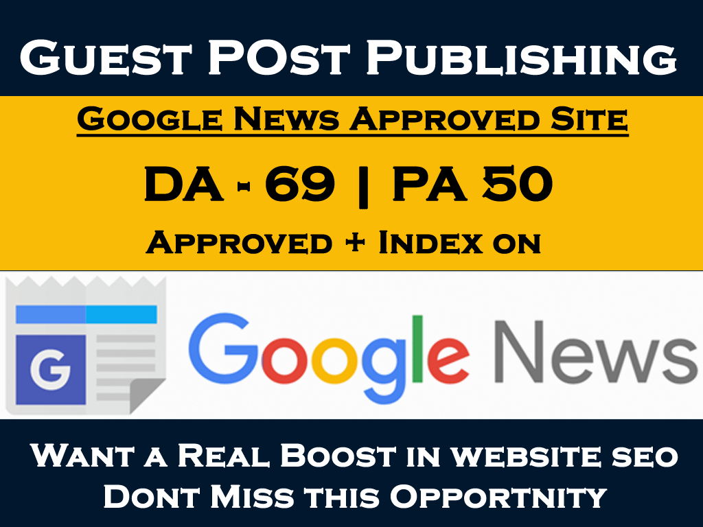 Guest post on da 65 google news approved site