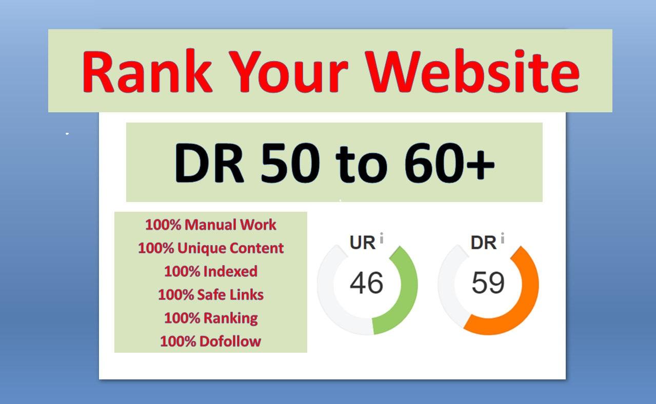 make DR 50 dofollow permanent homepage backlinks